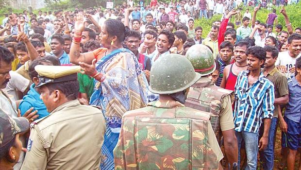 Public anger at Chandpur