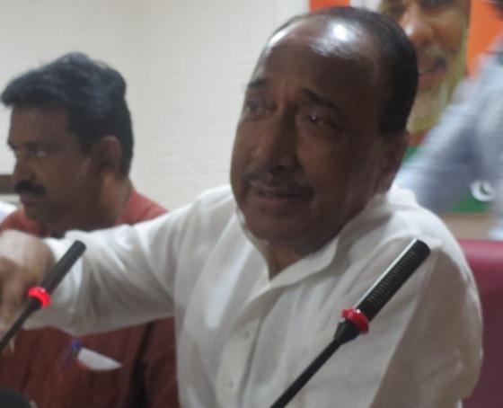 Bijay Mohapatra addressing press