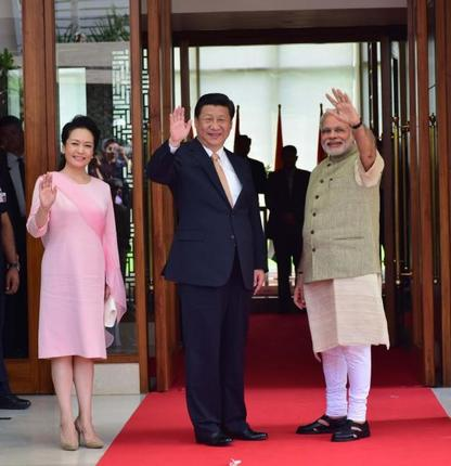 President of people's Republic of China Xi Jinping and Prime Minister of India Narendra Modi