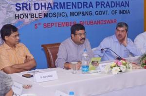 Dharmendra Pradhan reviews the work of oil companies in odisha