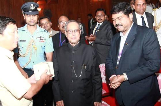 Oil Minister Dharmendra Pradhan is in Vietnam with President Pranab Mukharjee.