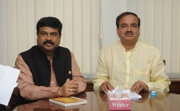 Union Minister for chemicals and fertilioser with Minister of state independent charge Dharmendra Pradhan