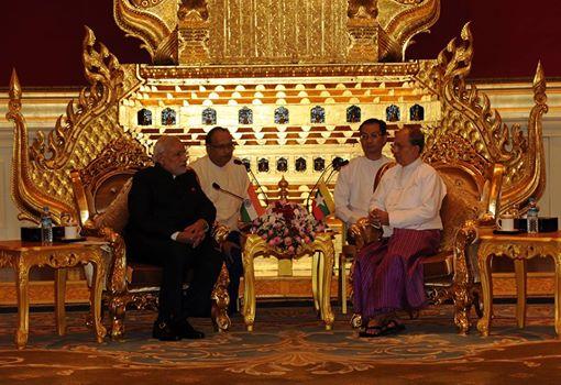Modi with U Thein Sein